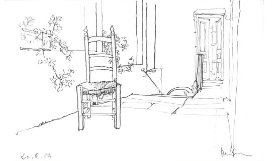 barbara brinkmann freihand skizzen eindr cke impressionen zeichnungen h user 1. Black Bedroom Furniture Sets. Home Design Ideas